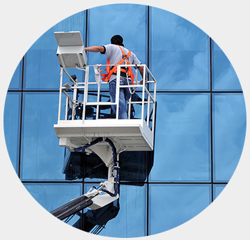 High-Rise Window cleaning. Building cleaning